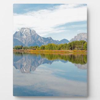 Teton壮大な山 フォトプラーク