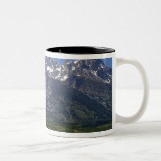 Teton範囲の景色の概観 ツートーンマグカップ