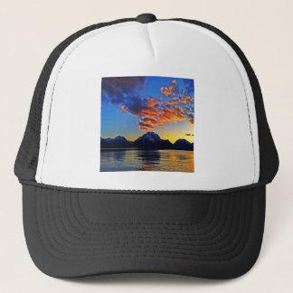 Tetons上の日没 キャップ