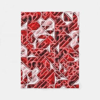 Tetris Nostalgyの精力的な三角形パターン毛布 フリースブランケット