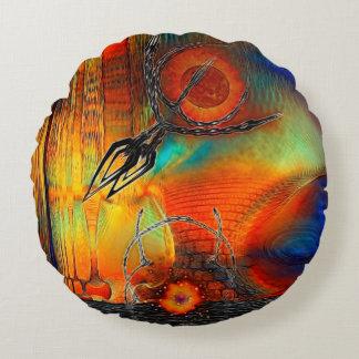 Tetrusの抽象芸術 ラウンドクッション