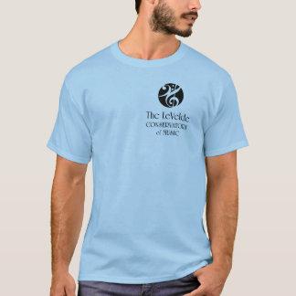 teVeldeの保存性のロゴ-銀 Tシャツ