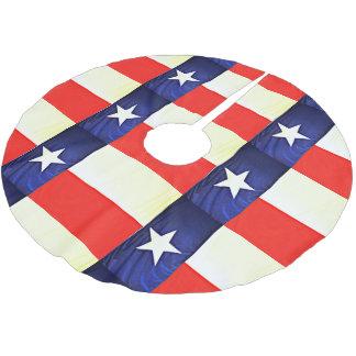 Texas Flag Tree Skirt ブラッシュドポリエステルツリースカート