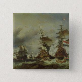 Texelの戦い、1694年6月29日 5.1cm 正方形バッジ