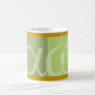 textArtのアルファオメガ コーヒーマグカップ