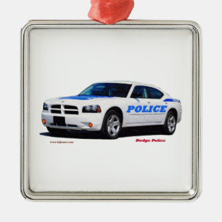 _Texturized Dodge_White_Police。 メタルオーナメント