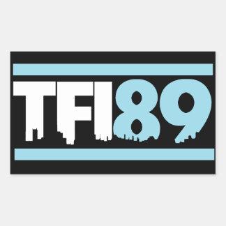 TFI89カロライナの青のステッカー 長方形シール