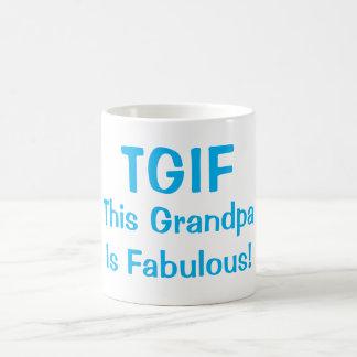 """""""TGIFこの祖父すばらしい""""はおもしろいなコーヒー・マグです コーヒーマグカップ"""