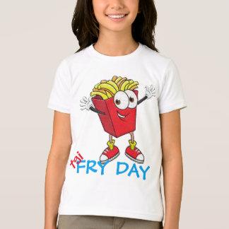 tgifの揚げ物日のおもしろTシャツのデザイン Tシャツ