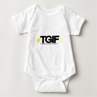 """TGIFは""""私によってがフィリピン""""である神を感謝していしています ベビーボディスーツ"""