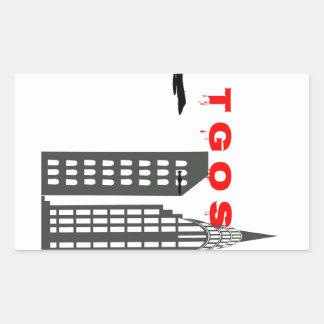 TGOS 9/11のステッカー 長方形シール