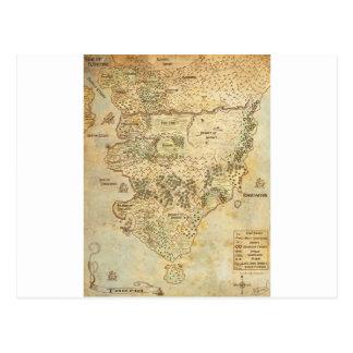 TGTの大陸地図 ポストカード