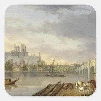 Thからのウエストミンスター橋そして大修道院の眺め スクエアシール