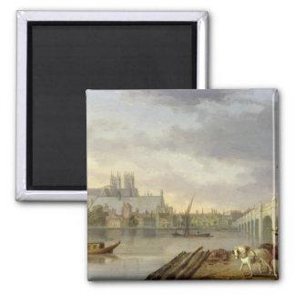 Thからのウエストミンスター橋そして大修道院の眺め マグネット