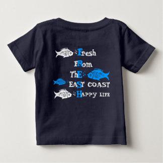 Thの東海岸の幸せな生命から新しい大西洋の海岸 ベビーTシャツ