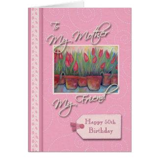 __thの誕生日-私の母、友人 カード
