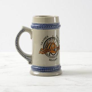 Thames Valleyのダイバー-ビールステイン ビールジョッキ