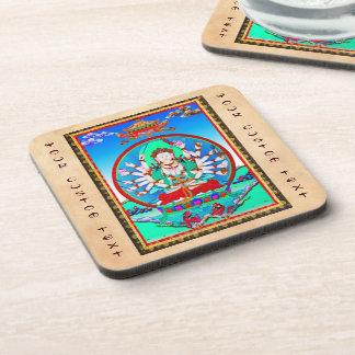 thangkaの入れ墨のCundhiのクールなチベットの菩薩 コースター