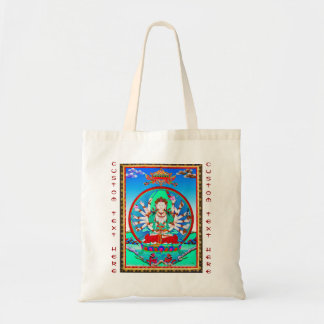 thangkaの入れ墨のCundhiのクールなチベットの菩薩 トートバッグ