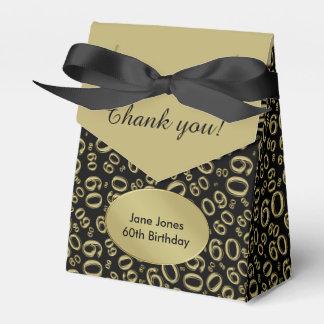 Thank You: 60th Birthday Theme Gold/Black フェイバーボックス