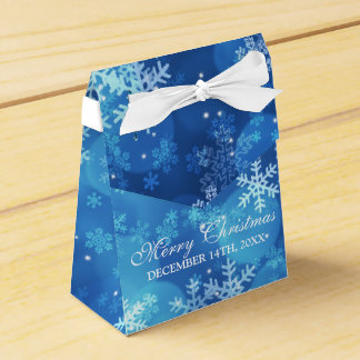 Thank You Christmas Holiday Sparkle Blue フェイバーボックス