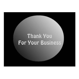 Thank You For Your Business ポストカード