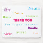 Thank You in Many Languages Mousepad マウスパッド
