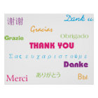 Thank You in Many Languages Poster ポスター