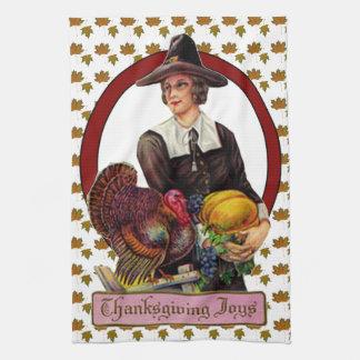 Thankgivingの喜びの台所タオル キッチンタオル