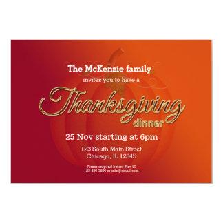 Thankgivingの夕食 カード