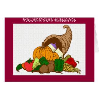 Thankgivingの恵みの感謝祭カード カード