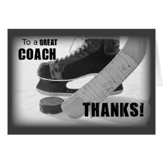 Thanks Hockey Coach カード