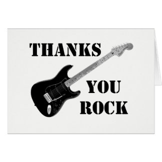 Thanks You Rock Black&whiteThank You Note card カード