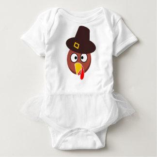 thanksgiving_turkey_pilgrim_hat2 ベビーボディスーツ