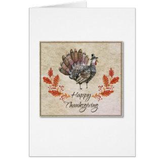 Thanksgiving Watercolor Turkey Card カード