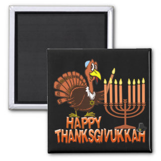Thanksgivukkah幸せなThankgivingハヌカーの磁石 マグネット