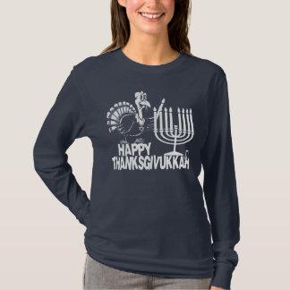 Thanksgivukkah - Thankgiving幸せなハヌカーのTシャツ Tシャツ