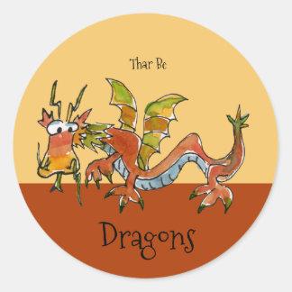 Tharはドラゴンです ラウンドシール