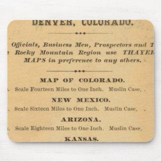 Thayerのコロラド州の地図 マウスパッド