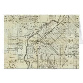 Thayerのデンバーコロラド州の地図 カード