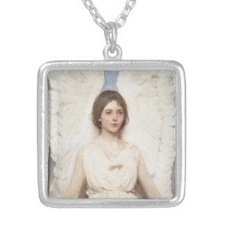 Thayerの天使のネックレス シルバープレートネックレス