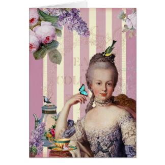 Théのau小さいTrianon -ばら色のハッピーバースデー グリーティングカード