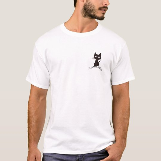 The cat say to human tシャツ