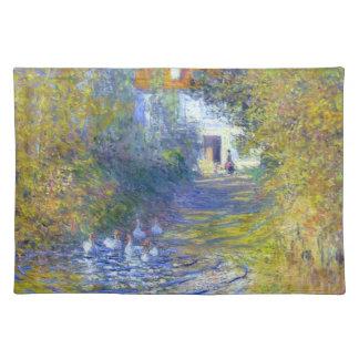 The Creekで泳いでいるガチョウ ランチョンマット