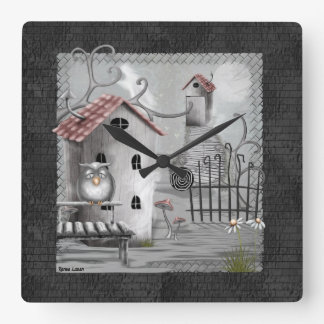 The Creekのゴシック様式民芸 スクエア壁時計