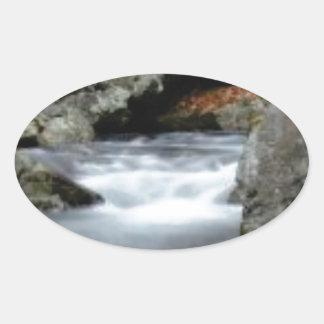 The Creekの石 楕円形シール