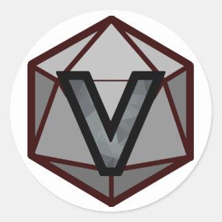 "The INVICTUS Stream ""GREY TEAM"" Logo ラウンドシール"