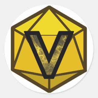 "The INVICTUS Stream ""YELLOW TEAM"" Logo ラウンドシール"
