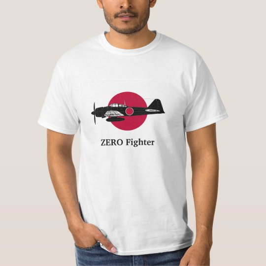 The Japanese flag and Zero fighter Tシャツ