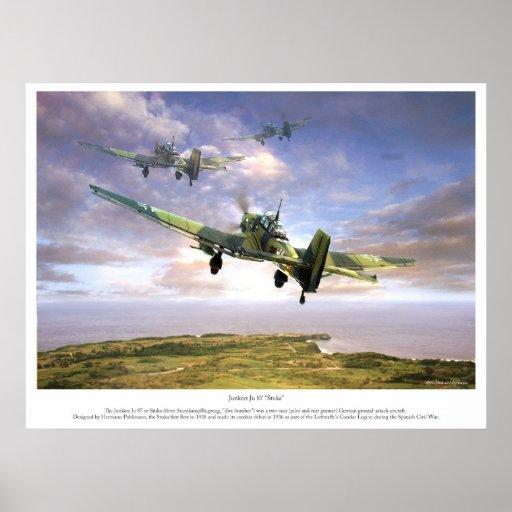 """The Junkers Ju 87 """" Stuka """" ポスター"""